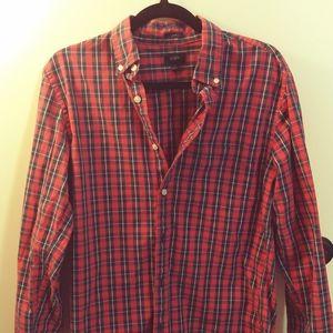 Men's JCrew Slim Plaid Shirt SIZE MEDIUM